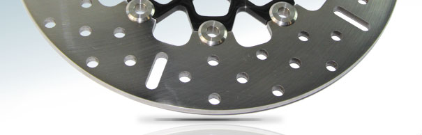 EBC Brakes™ Black Chrome Centre Replacement Discs for Big Twins image